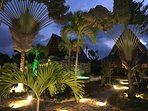 The magical gardens of Chalet Tropical under the stars