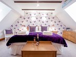 Master bedroom on top floor with super-king bed