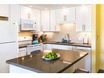 Newly remodeled kitchen, quartz countertops, ample cabinet space, new fixtures