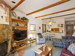 NEW LISTING! Mountainview condo in Cascade Village w/shared pool/hot tub/sauna