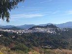 Gaucin village and La Sierra de Ronda in the distance.