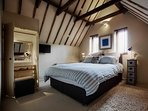 Vaulted Master Bedroom. King Size Double Bed