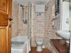 En-suite bath, shower and toilet