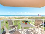 Gorgeous direct oceanfront view from your private balcony (Note: there are TWO oceanfront balconies in this unit!)