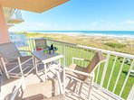 Gorgeous Ocean VIEWS from Living Room balcony (Note: the balcony to the left is the second balcony for this unit, off...