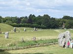 Avebury. A great place to walk freely among the stones which surround the village.