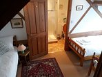 Another view of the triple room in Corner Barn showing ensuite