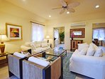The comfortable AC formal living area
