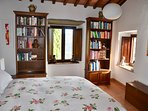 Plenty of books for the avid reader. Very comfortable king bed.