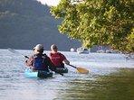 Kayaking down the Fowey Estuary