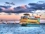 ENJOY A LEISURELY DINNER CRUISE WHILE WATCHING BEATYIFUL SUNSETS IN THE DISTANCE