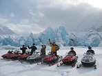 Snow Machine with Glacier City Snowmobile Tours - one mile away