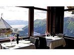 Dine among the glaciers at Seven Glaciers Restaurant
