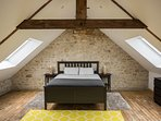 Newly refurbished attic bedroom with ensuite bathroom