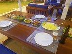 Rice & curry under the veranda