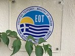 Our official licence plaque as issued by the Hellenic Ministry of Tourism.