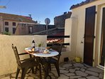 Private sun terrace, with all day sunshine, excellent for sunbaking