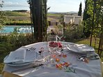 ... and for 'Al fresco' dining with view
