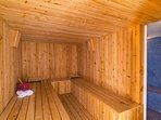 Relax in the sauna and steam room