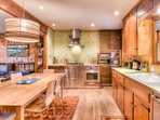 Fully equipped kitchen with large dining table