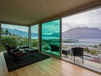 The master bedroom opens up to this fantastic balcony boasting panoramic views