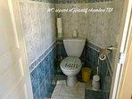 WC séparé privatif Chambre TSF 2 personnes
