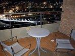 cenar en el balcón