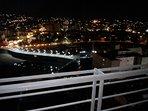 vista nocturna desde el balcón del Departamento