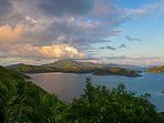 Gorgeous sunset over the East End and Tortola!