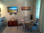 Dining Area w/ Sony 4-inch Flat Screen LED HDTV w/ Vizio Sound Bar.