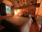 The loft has a queen bed as well
