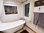 Enjoy the view of the Chugach Forest as you soak