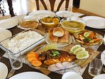 A delicious sea food meal prepared by our in-house cook according to your tastes and preferences