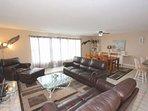 Oceanfront living room.