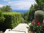 With stunning views across the azure Ionian Sea ...