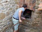 Pizze andando nel forno