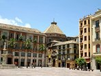 Piazza principale di Malaga, chiamata della Costituzione