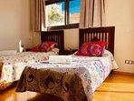 Second floor en-suite twin bedroom with terrace