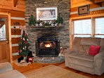 Beautiful Christmas Gas Fireplace
