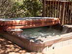 Relax in the hot tub off the deck