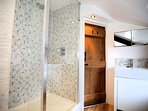 Shower room, there is a separate cloakroom