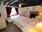 Double bedroom with harbour views. A child size 'put up bed' can be used upon request