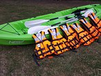 Some kayaks are provided at no extra charge for guests to use. Paddles and life jackets available.