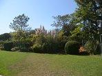 Grass pitch at rear of villa