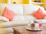 Cosy living room, full of natural light