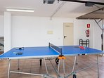 Garage with table tennis