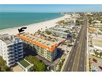 Arial View on Condo Building with Arrow pointing to Condo unit #502! Can not beat this location!