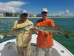 This is me and a friend from Ohio! The fishing is great. The Snook is delicious!
