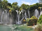 Kravice waterfalls- a great way to refresh after visiting Mostar.