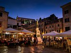 Relax and dine alfresco in one of the many piazzas